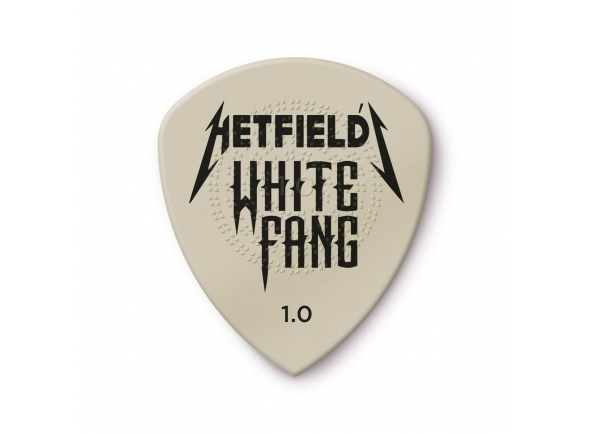 Palhetas para guitarra Dunlop James Hetfield Flow White Fang PH122T,  6 Pack 1.0 mm