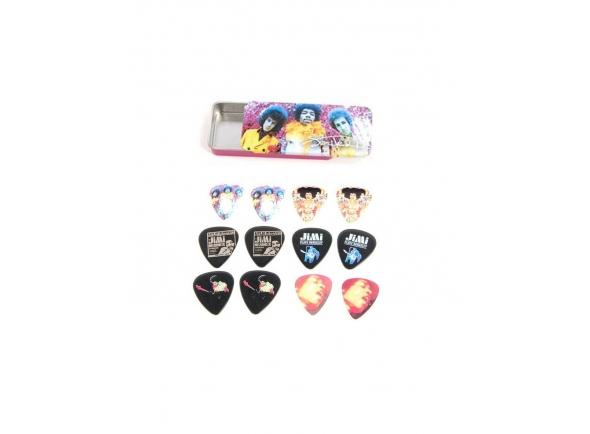 Palhetas para guitarra Dunlop JHPT01M Jimi Hendrix Pack