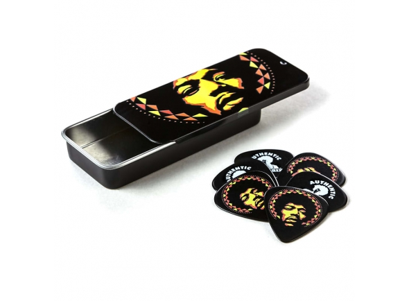 Palhetas para guitarra Dunlop  JHPT16H Jimi Hendrix Pick Tin - Aura Mandala