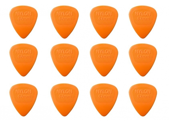 Palhetas para guitarra Dunlop Nylon Midi 443P067 Pack