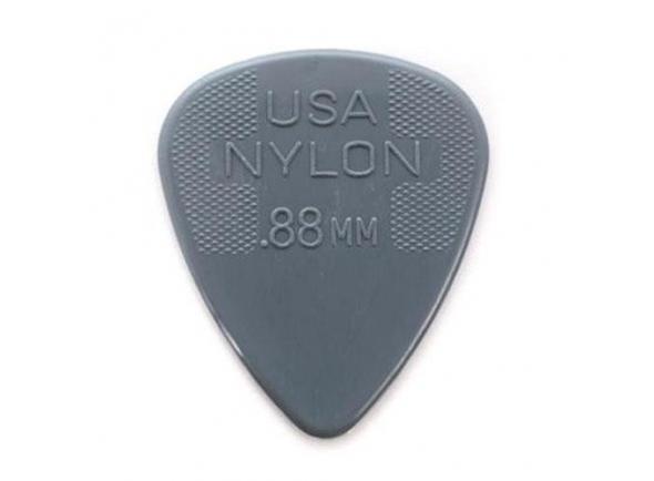 Palhetas para guitarra Dunlop Pack de 12 Palhetas Nylon Standard 44P 0.88 mm