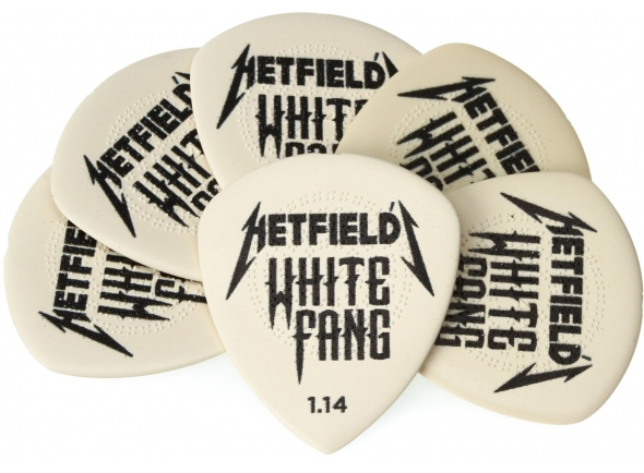 Palhetas para guitarra Dunlop PH122P114 James Hetfield White Fang Custom 1.14mm 6-Pack