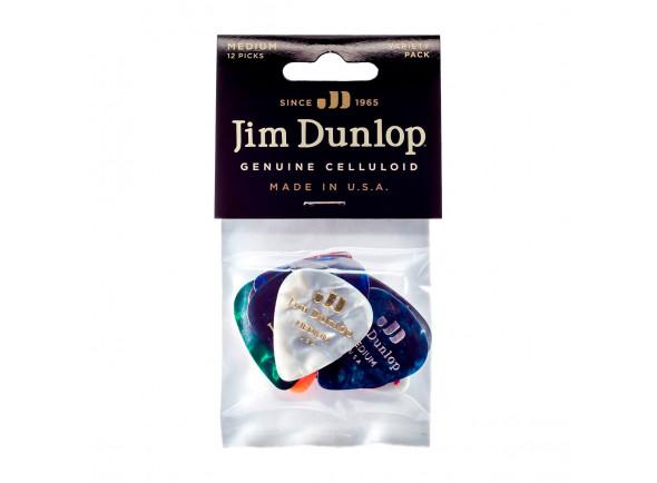 Palhetas para guitarra Dunlop  PVP106 Celluloid Medium Guitar Pick Variety Pack (12-Pack)