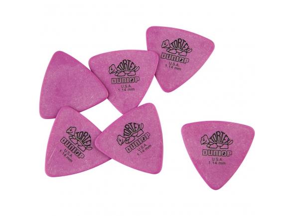 Palhetas para guitarra Dunlop Tortex Triangle 1,14 6 Pack