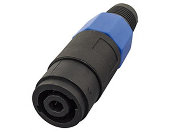 Fichas Speakon  Egitana  Conector Plug Speakon SKP 4 Polos Femea de Linha FS4W