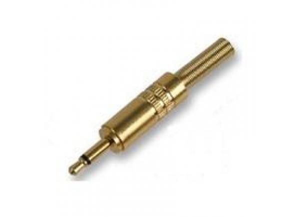 Fichas Jack de 3.5mm (macho e fêmea) Egitana  Ficha Jack 3.5 Macho Mono E Protetor Dourado