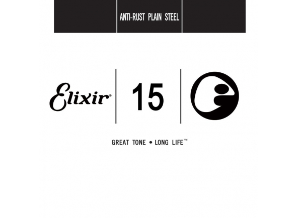 Cordas individuais para guitarra elétrica Elixir .015 Plain steel