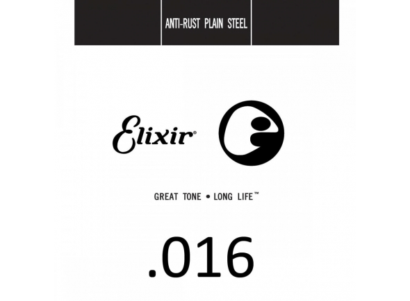 Cuerdas individuales para guitarra Elixir .016 Plain Steel