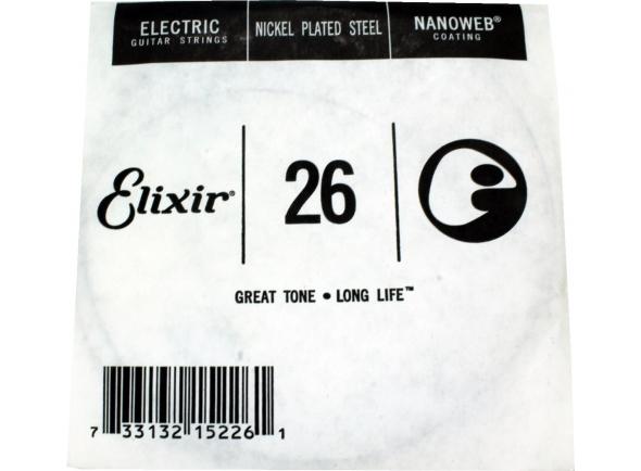 Cordas individuais para guitarra Elixir 0.26 Electric Guitar