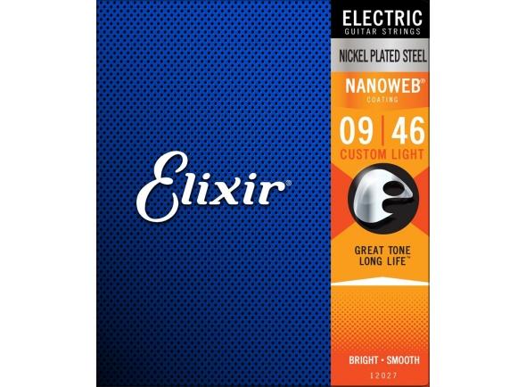 Jogo de cordas .009 Elixir Nanoweb Custom Light