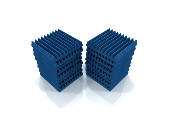 Absorvedores standard EQ Acoustics   Classic Wedge 30cm Tile blue