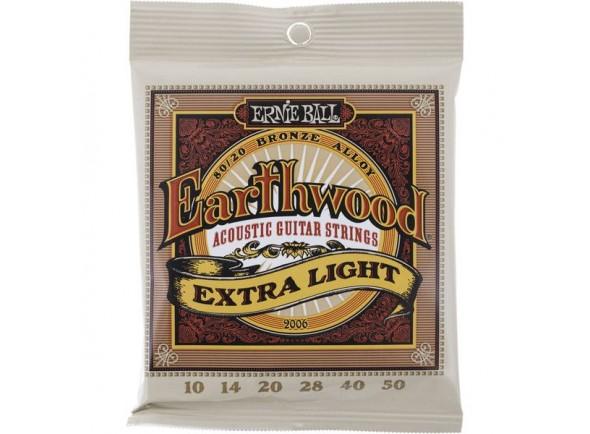 Jogo de cordas .010 Ernie Ball 2006 Earthwood Bronze 10-50