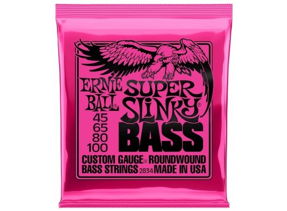 Jogo de cordas .045 para baixo elétrico de 4 cordas Ernie Ball 2834 Super Slinky