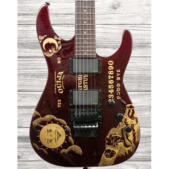 Guitarras Signature ESP LTD Kirk Hammett Red Sparkle Ouija Limited Edition