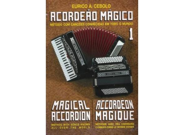 Livros de Acordeão Eurico A. Cebolo Acordeão Mágico 1 com CD