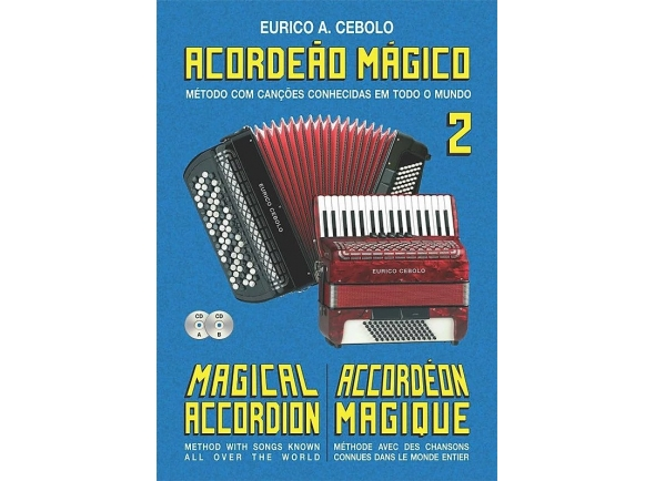 Libros de acordeón Eurico A. Cebolo Kit acordeao magico 2 + 2cds
