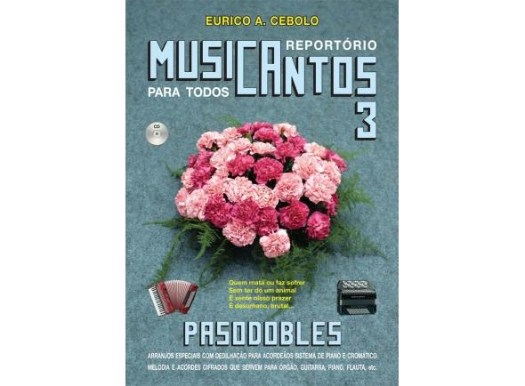Livro de canções Eurico A. Cebolo Musicantos N3
