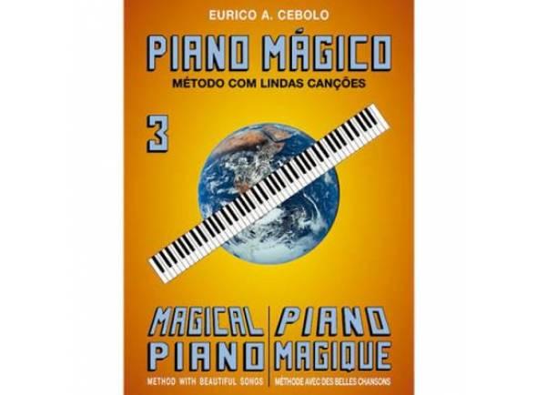 Livros de piano Eurico A. Cebolo Piano Mágico 3