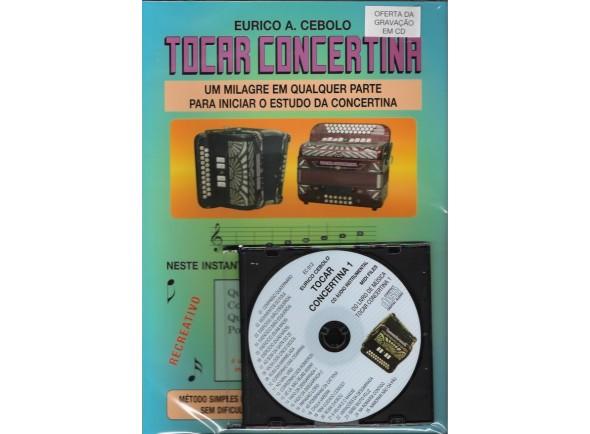 Livros de concertina Eurico A. Cebolo Tocar Concertina 1 com CD