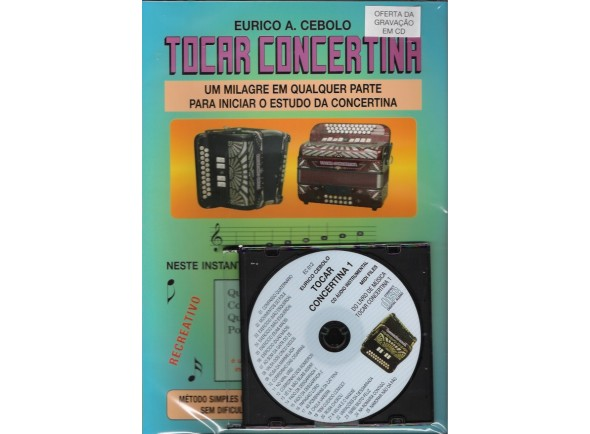 Libros Concertina Eurico A. Cebolo Tocar Concertina 1 com CD