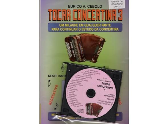 Livros de concertina Eurico A. Cebolo Tocar Concertina 3 com CD