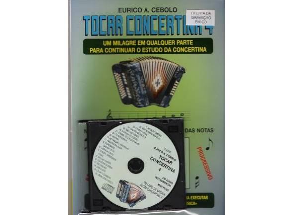 Livros de concertina Eurico A. Cebolo Tocar Concertina 4 com CD
