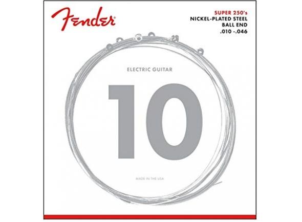 Fender 250R  Conjunto de cordas para guitarra  Calibres: 0,010 - 0,046  Material: aço niquelado