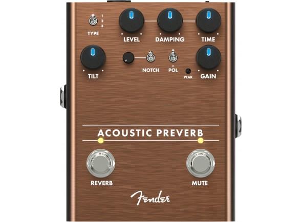 Efeitos reverb e hall Fender Acoustic Preverb