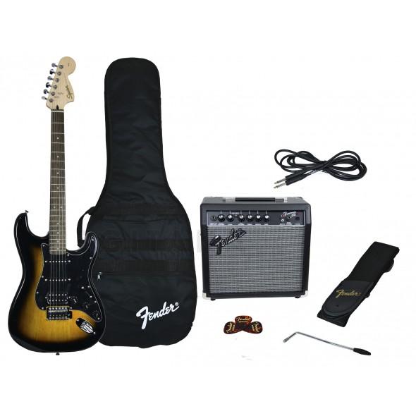 Packs de guitarra  Fender Affinity Strat Pack HSS Brown Sunburst