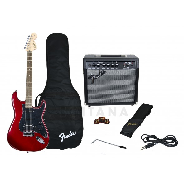 Packs de guitarra  Fender Affinity Strat Pack HSS Candy Apple Red