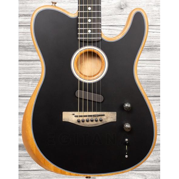 Guitarras formato T Fender American Acoustasonic Telecaster Black