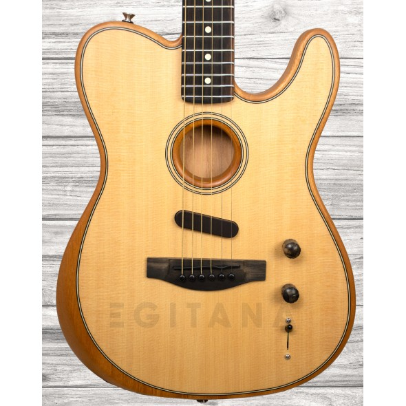Guitarras formato T Fender American Acoustasonic Telecaster Natural