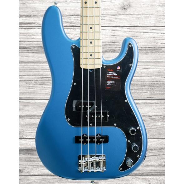 Baixo de 4 Cordas Fender American Performer Precision Bass MN Satin Lake Placid Blue
