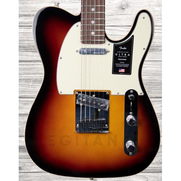 Guitarras formato T Fender American Ultra Tele RW Ultraburst