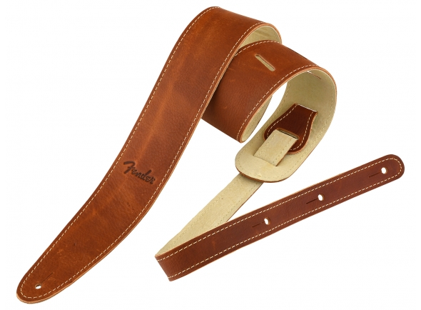 Correia de couro Fender Ball Glove Leather Strap BRN