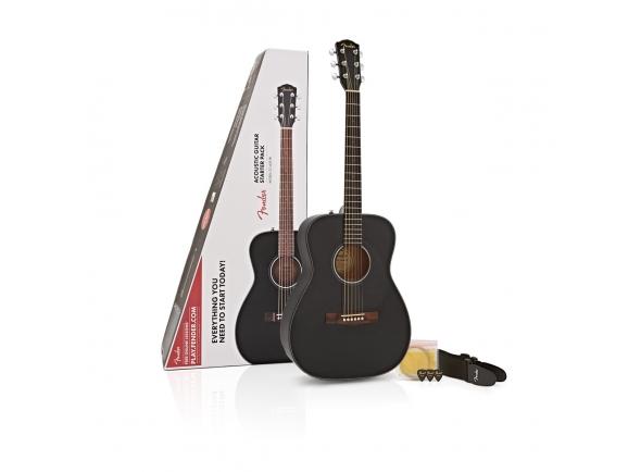 Conjuntos de guitarra acústica Fender CC-60S Concert Pack Black