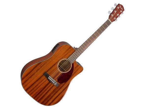 Fender CD-140SCE All Mahogany   Inclui Estojo  Corpo estilo Dreadnought (acabamento brilhante)  Captação Fishman® Presys™ com afinador embutido
