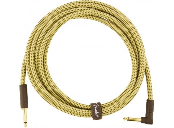 Cable de instrumento Fender Deluxe tweed natural angulado de 4,5m