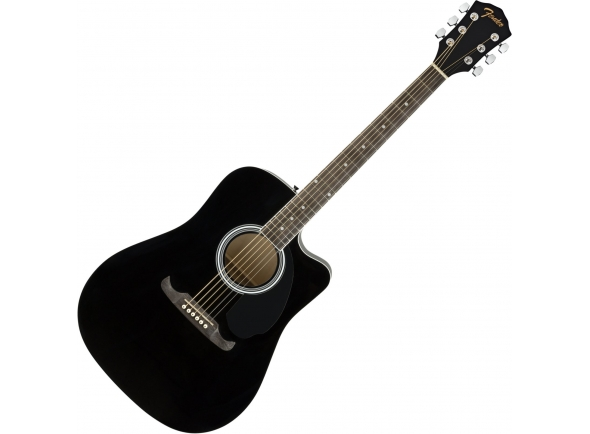 Guitarras Dreadnought Fender FA-125CE BLK