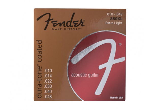 Fender Jogo de Cordas 010 Bronze Revestidas Guitarra Acústica 880XL 1048