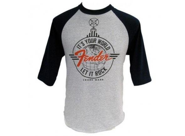 Diversos Fender Let It Rock Baseball T-Shirt S