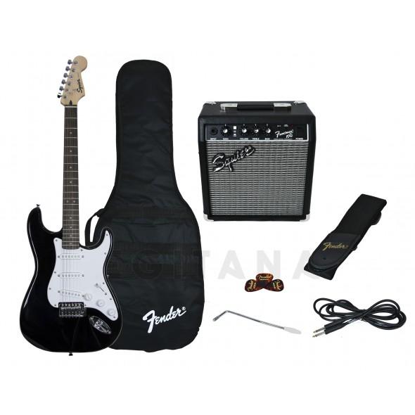 Fender Pack Guitarra Strat BK GB 10G