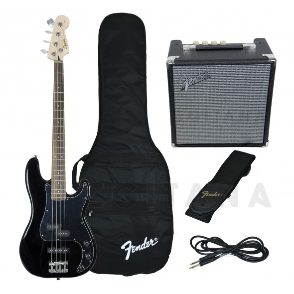 Pack's de Baixo Elétrico Fender Squier Affinity Precision PJ Bass Pack Black