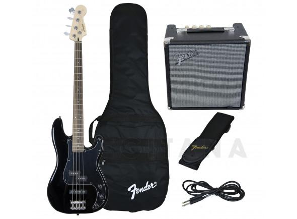 Pack's de Baixo Elétrico Fender Squier Affinity Precision PJ Bass Pack Black B-Stock