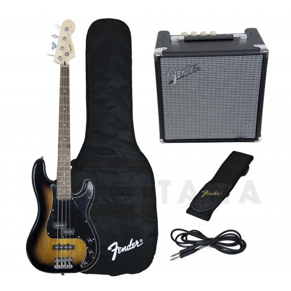Pack's de Baixo Elétrico Fender Squier Affinity Precision PJ Bass Pack Brown Sunburst
