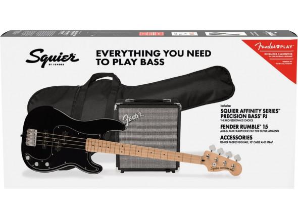 Pack's de Baixo Elétrico Fender Squier Affinity Series Precision Bass PJ Pack MN Black