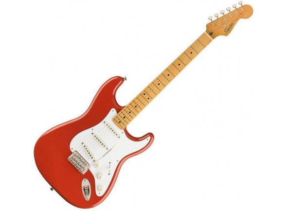 Guitarras formato ST Fender Squier Classic Vibe 50s Stratocaster MN Fiesta Red