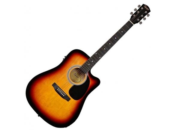 Guitarras Dreadnought Fender Squier SA-105CE Sunburst B-Stock