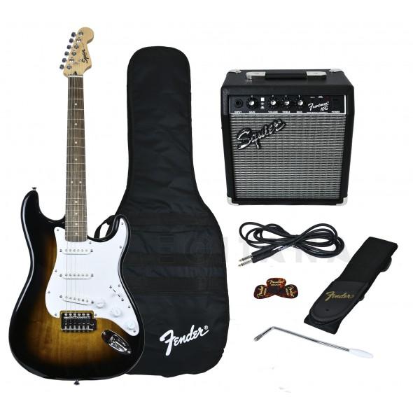 Packs de guitarra  Fender Squier Strat Pack SS Brown Sunburst