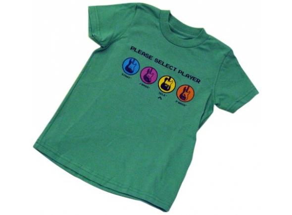 T-shirts Fender Youth Choisissez un lecteur, Vert, L/10